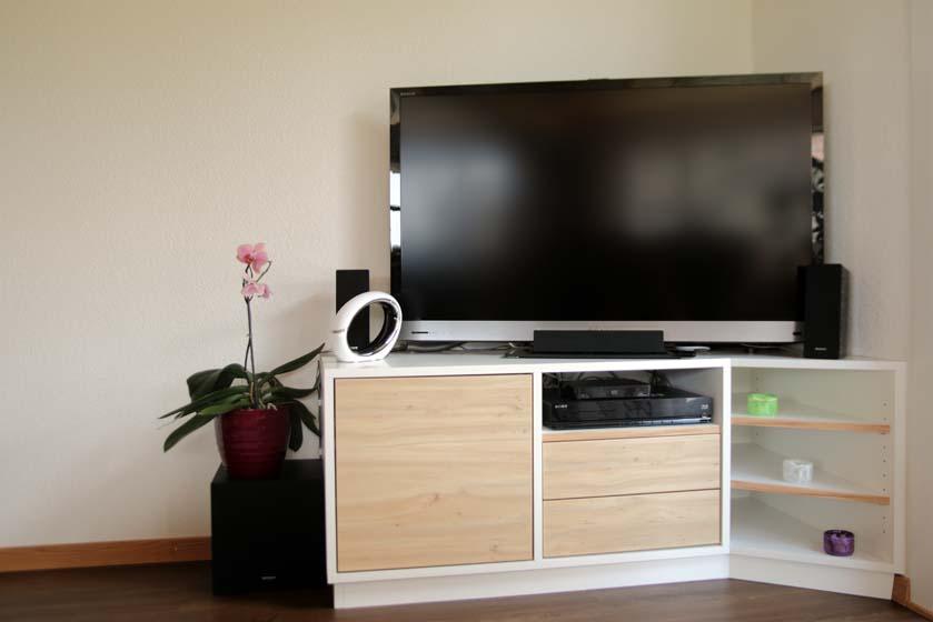 meuble tv d angle sur mesure david giller